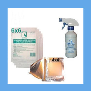 Hydrogel Saturated 4x4 Gauze Wound Care Kit