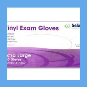 McKesson Vinyl Exam Gloves, Powder Free Non-Sterile, EXTRA LARGE, #14-120