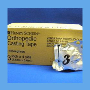 "Henry Schein Fiberglass Cast Tape, 3"" x 4 Yards"