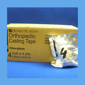 "Henry Schein Fiberglass Cast Tape, 4"" x 4 Yards"