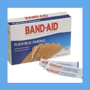 Johnson and Johnson Band-Aid Flexible Fabric, 3/4