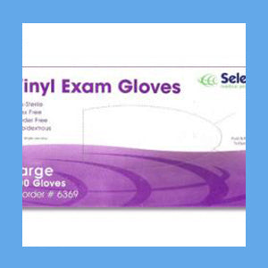 McKesson Vinyl Exam Gloves, Powder Free Non-Sterile,         LARGE, #14-118