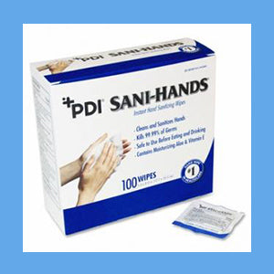 PDI Sani-Hands Instant Hand Sanitizing Wipes 100 wipes