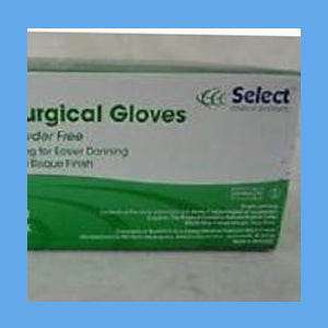 Select Sterile Latex Surgical Gloves, Powder-Free