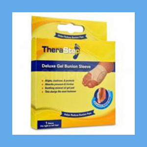 Silipos TheraStep Delux Gel Bunion Sleeve Universal 1 Sleeve/ Package #7018 Retail Packaging
