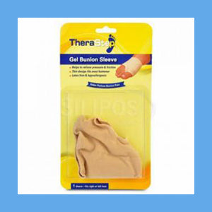 Silipos TheraStep Gel Bunion Sleeve Universal 1 Sleeve/ Package #7013 Retail Packaging