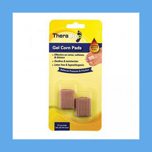 Silipos TheraStep Gel Corn Pads One Size Fits Most 2/ Pkg.- Retail Packaging #7000