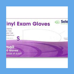 McKesson Vinyl Exam Gloves, Powder Free Non-Sterile, SMALL, #14-114