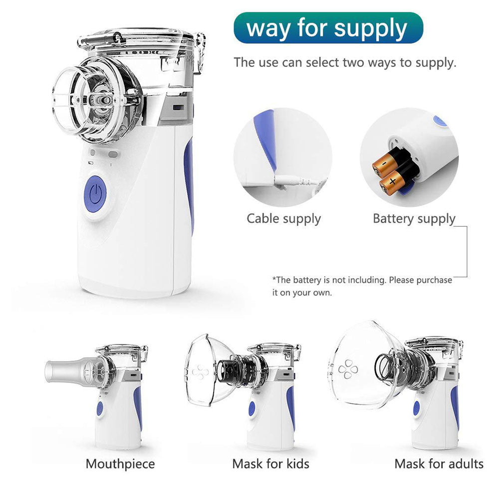 Portable nebulizer For Congestion And Asthma Beathing Treatment, Handheld compression nebulizer