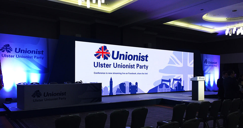UUP Party Conference LED Display Screen