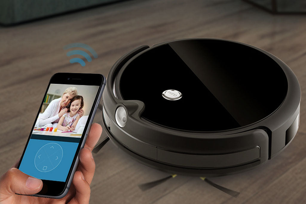 Intelligent Sweeper Robot Whole House Planning With App,Camera,Silent,Self-charging
