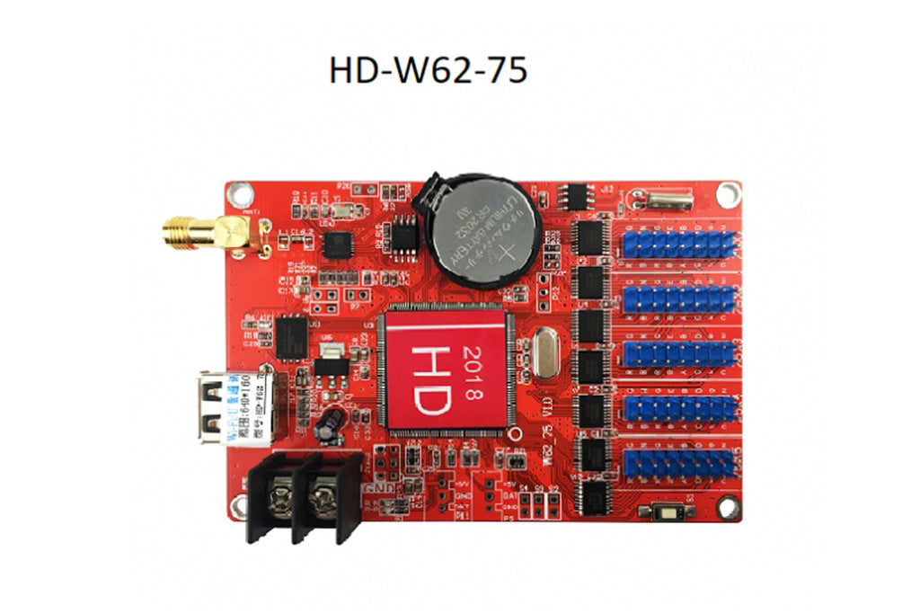 HUIDU HD-W62-75 Series Wi-Fi Single Color LED Controller Card