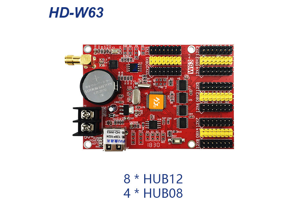 HUIDU HD-W63 Series Wi-Fi Single Color LED Controller Card