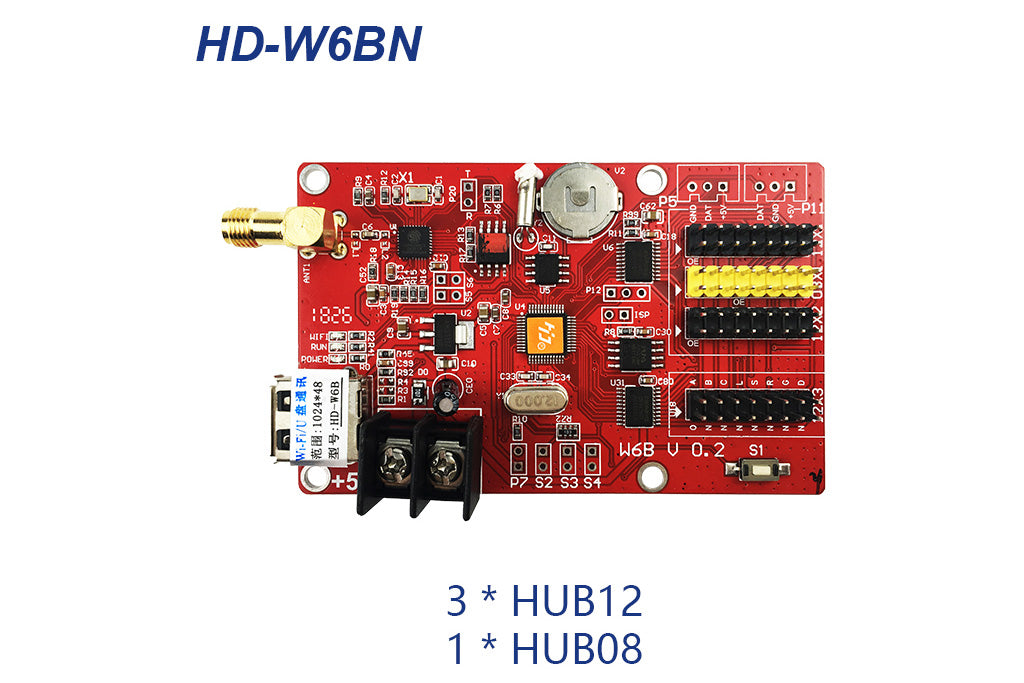 HUIDU HD-W6B Series Wi-Fi Single Color LED Controller Card