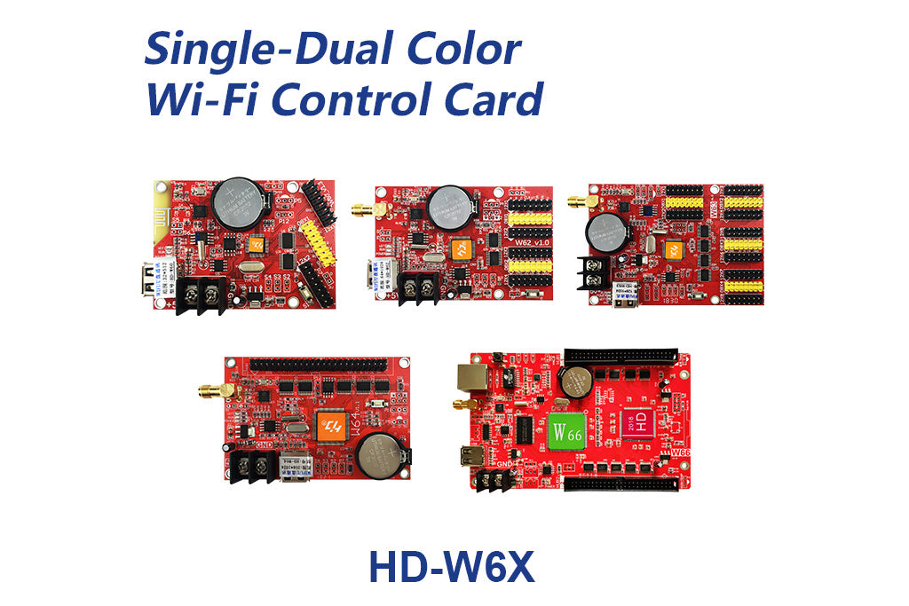 HUIDU HD-W6X Series Wi-Fi Single Color LED Controller Card