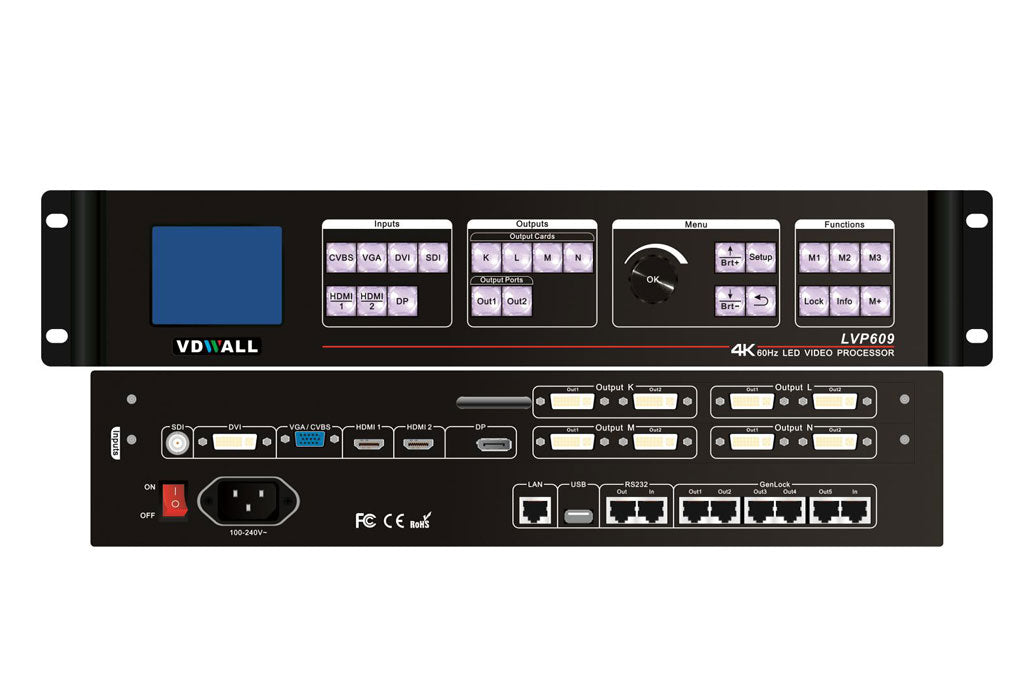 VDWall 4K Processor LED Display Controller LVP609 LED Video Processor