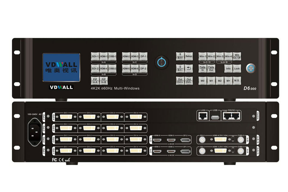 VDWALL D6000 4K Multi-Window Mosaic Processor