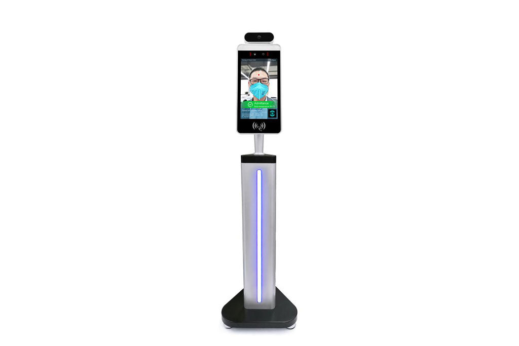 IR Body temperature kiosk with facial recognition
