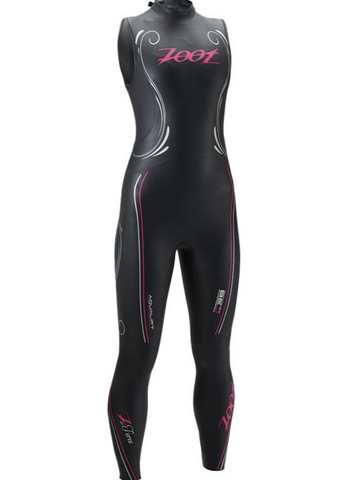 Zoot Women's Triathlon Wetsuit Sleeveless Z-Force 1.0 Black/Beet