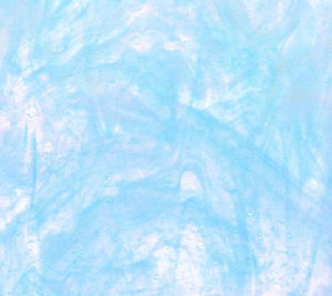 Armstrong Glass Company 401S Ice Blue Opalescent Wispy Stained Glass Glass Sheet