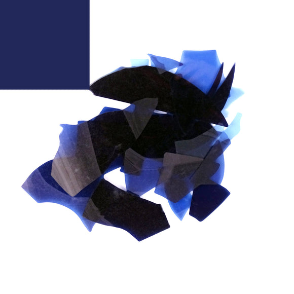 Translucent Dark Blue Confetti