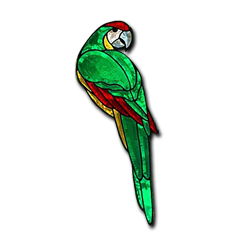 GST Green Macaw Bevel Cluster