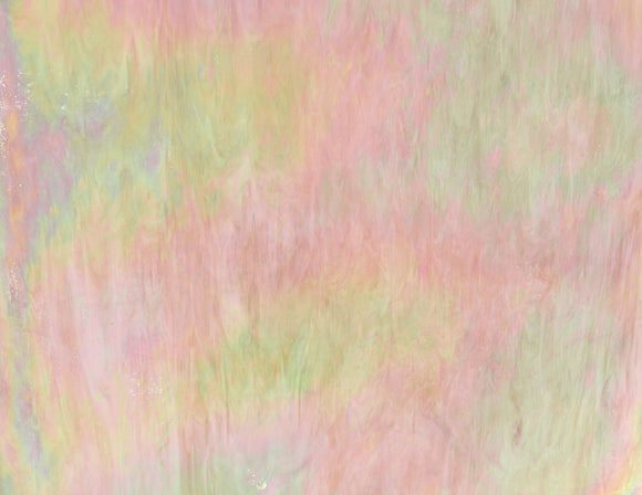 Armstrong Glass Company 1821SR Opalescent Champagne Streaky Iridescent Stained Glass Glass Sheet