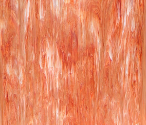 Armstrong Glass Company 1855S Opalescent Red Streaky Stained Glass Glass Sheet