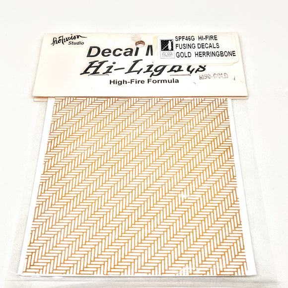 Gold Herringbone Decals Hi-Fire