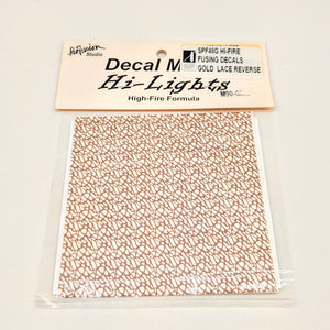 Gold Lace Reverse Decals Hi-Fire