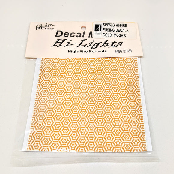 Gold Mosaic Decals Hi-Fire