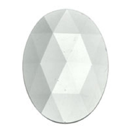 Oval Faceted Crystal Jewel
