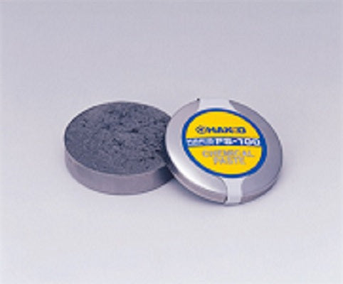 The Hakko FS-100 paste re-tins and helps restore heavily oxidized soldering iron tips back to useful life. 100% lead-free. The flux does not contain Diammonium phosphate and does not leave a harmful residue. For optimum performance, use in conjunction with the Hakko 599B tip cleaner.
