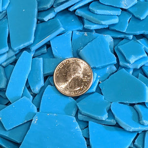 Turquoise Blue Opalescent Mosaic Art Glass Chips