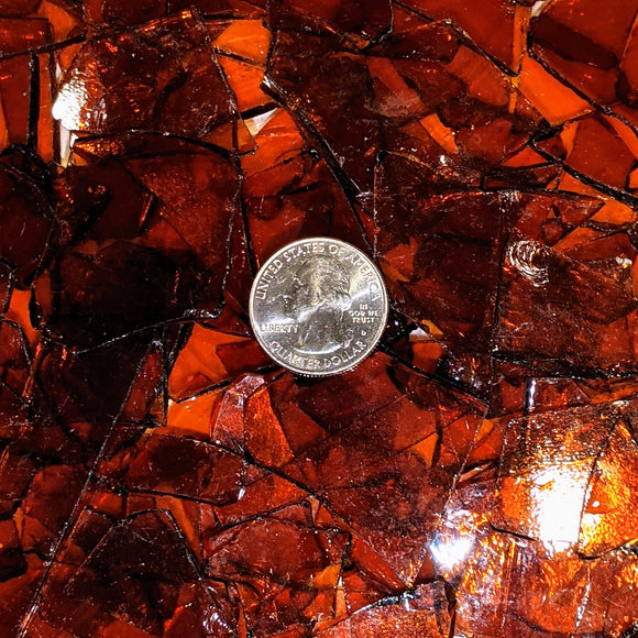 Medium Amber Transparent Mosaic Art Glass Chips