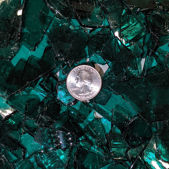 Teal Green Mosaic Art Glass Chips