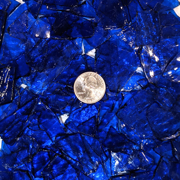 Medium Blue Transparent Mosaic Art Glass Chips