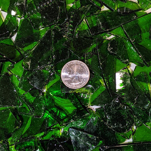 Moss Green Transparent Mosaic Art Glass Chips