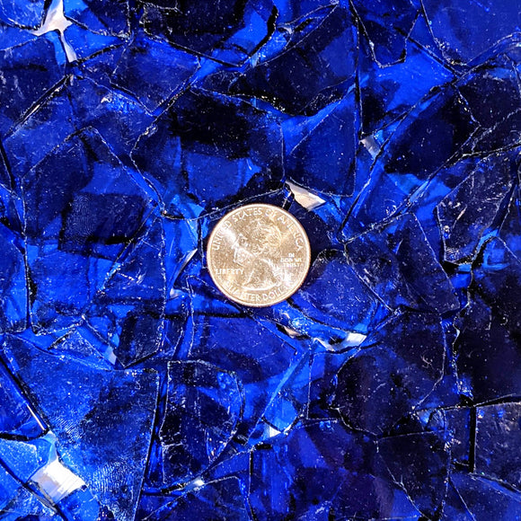 Dark Blue Transparent Mosaic Art Glass Chips