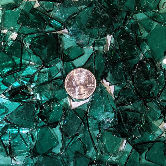 Sea Green Transparent Mosaic Art Glass Chips