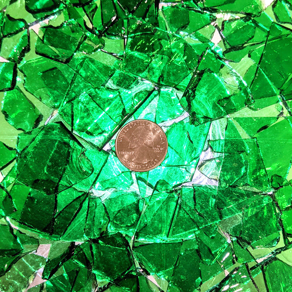 Light Green Transparent Mosaic Art Glass Chips