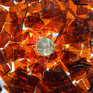 Dark Amber Mosaic Art Glass Chips