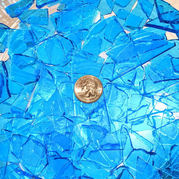 Sky Blue Transparent Mosaic Art Glass Chips