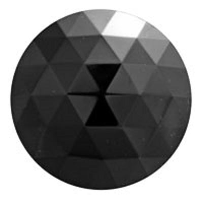 Round Faceted Black Jewel