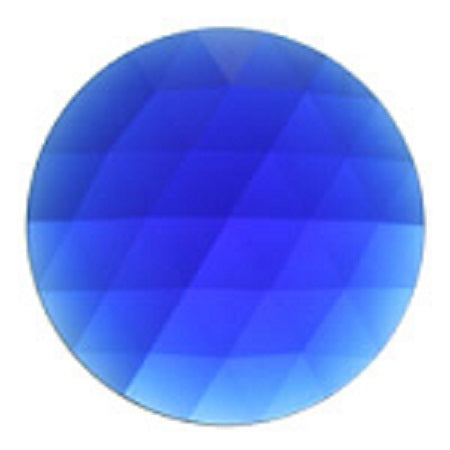 Round Faceted Cobalt Blue Jewel