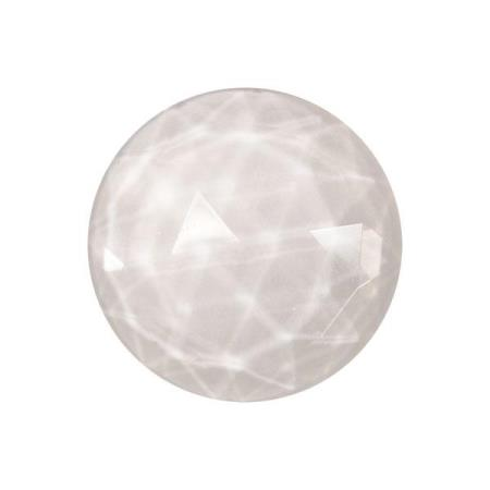 Round Faceted Crystal Jewel
