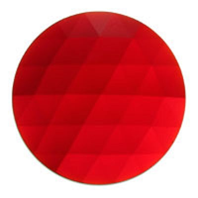 Round Faceted Dark Red Jewel