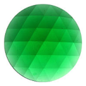 Round Faceted Emerald Green Jewel