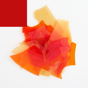 Opaque Red Confetti