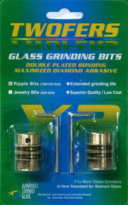 Twofers Ripple Glass Grinding Bits - 100/120 Grit